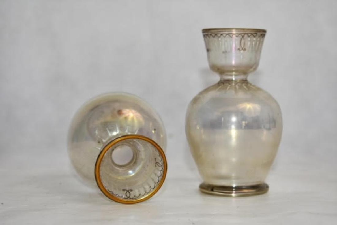 pair clear vases 11 cm - 2