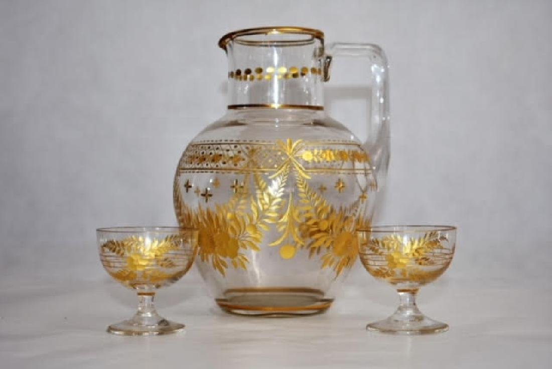 French jug and two glasses 5 and 16