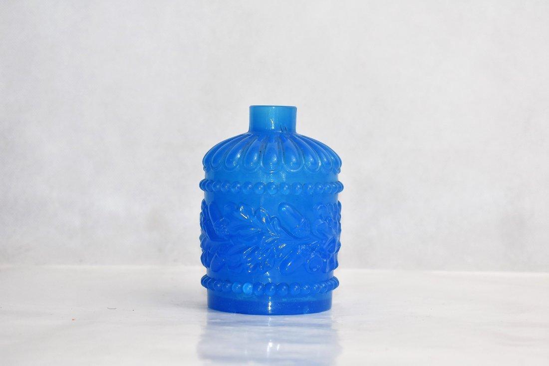 blue french opaline bottle 11 cm