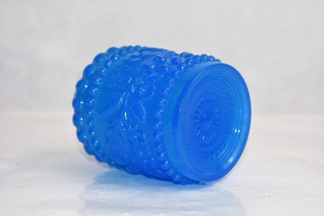 blue french opaline bottle 11 cm - 3