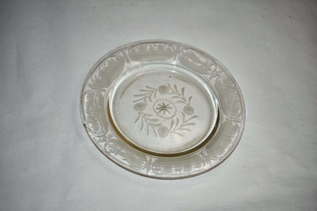 bohemian clear engraved cup 10 cm - 3