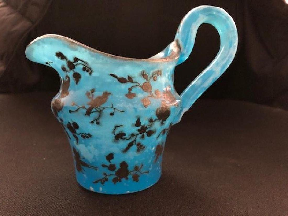 Bohemian Glass Milk Jar