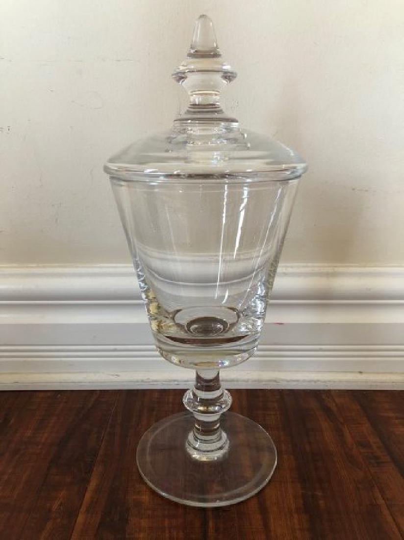 Large Glass Goblet. Signed