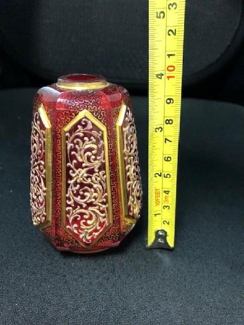 Bohemian Glass Vase - 3
