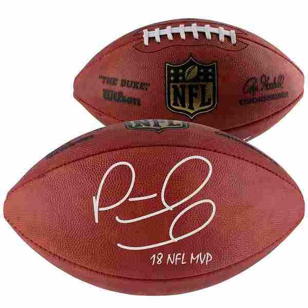 """Patrick Mahomes Duke Pro Football with """"18 NFL MVP"""""""
