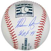 Nolan Ryan Texas Rangers Autographed Hall of Fame Logo