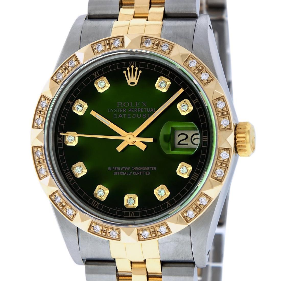Rolex Mens Datejust 16013 Watch SS/18K Yellow Gold