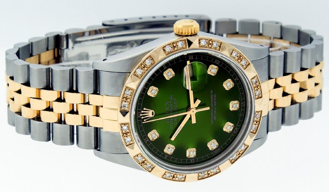 Rolex Mens Datejust 16013 Watch SS/18K Yellow Gold - 3