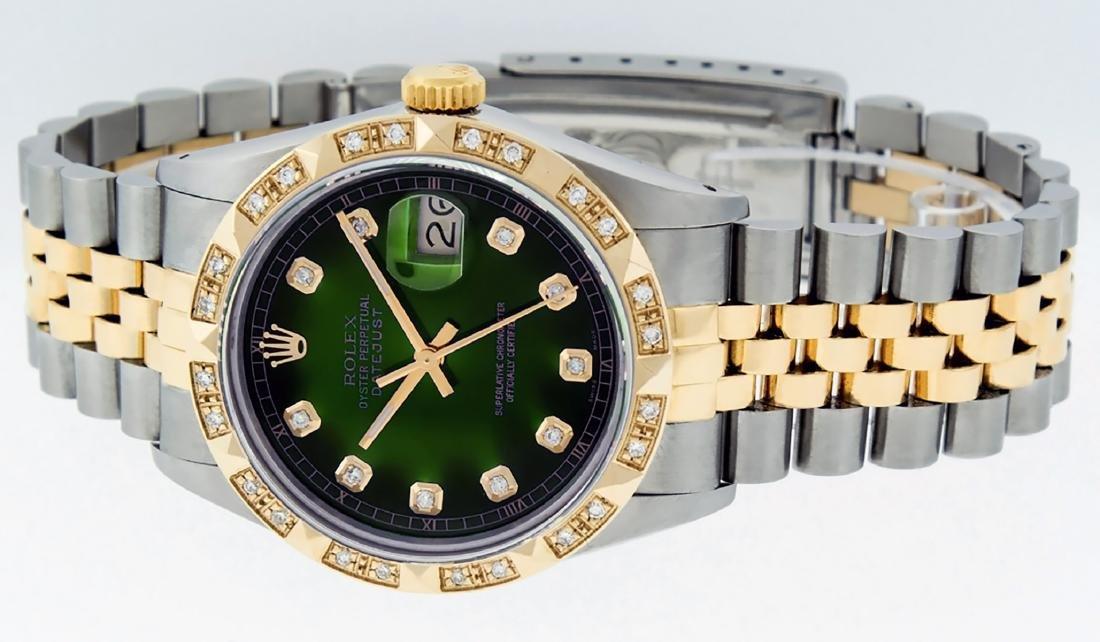 Rolex Mens Datejust 16013 Watch SS/18K Yellow Gold - 8
