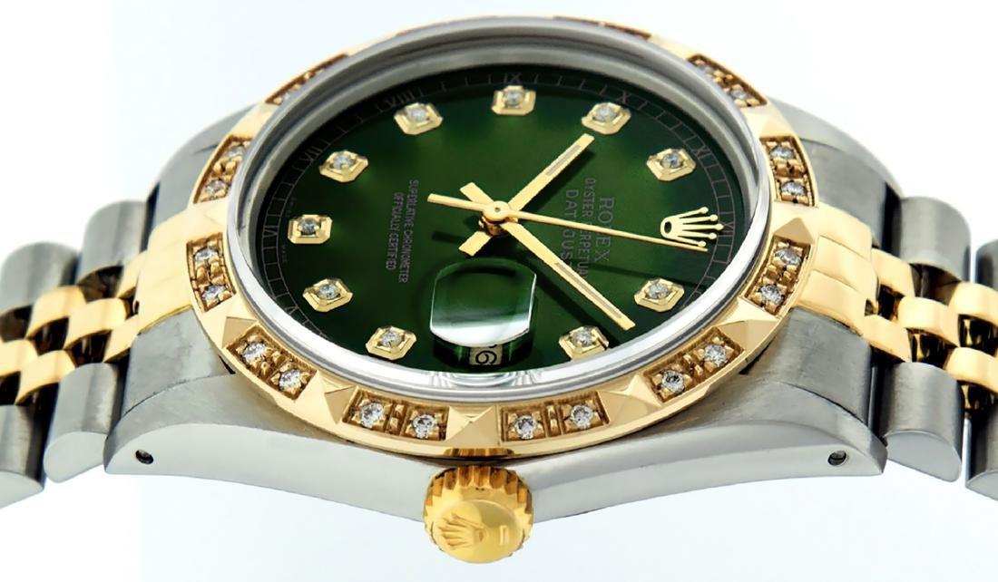 Rolex Mens Datejust 16013 Watch SS/18K Yellow Gold - 9