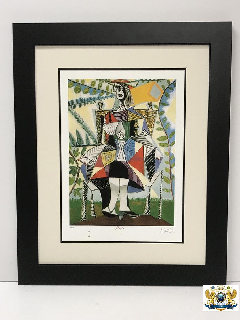After Pablo Picasso Women Seated in a Garden Lithograph