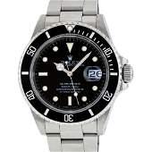 Rolex Mens Submariner 16610 Stainless Steel Black Dial