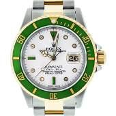 Rolex Mens Submariner 16613 Watch SS & 18K Yellow Gold