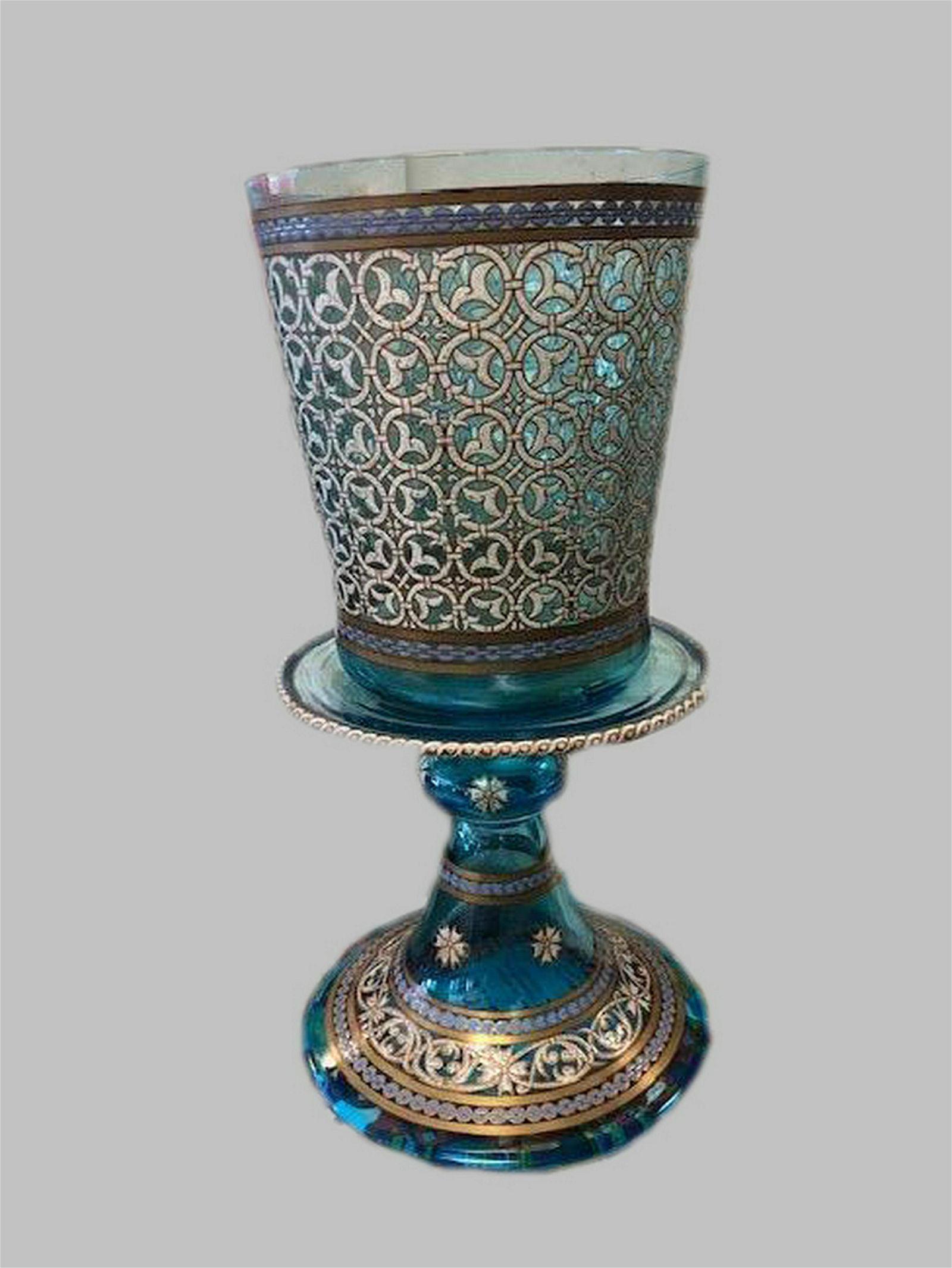 A LARGE ENAMELLED GILT  GOBLET PHILIPPE-JOSEPH BROCARD