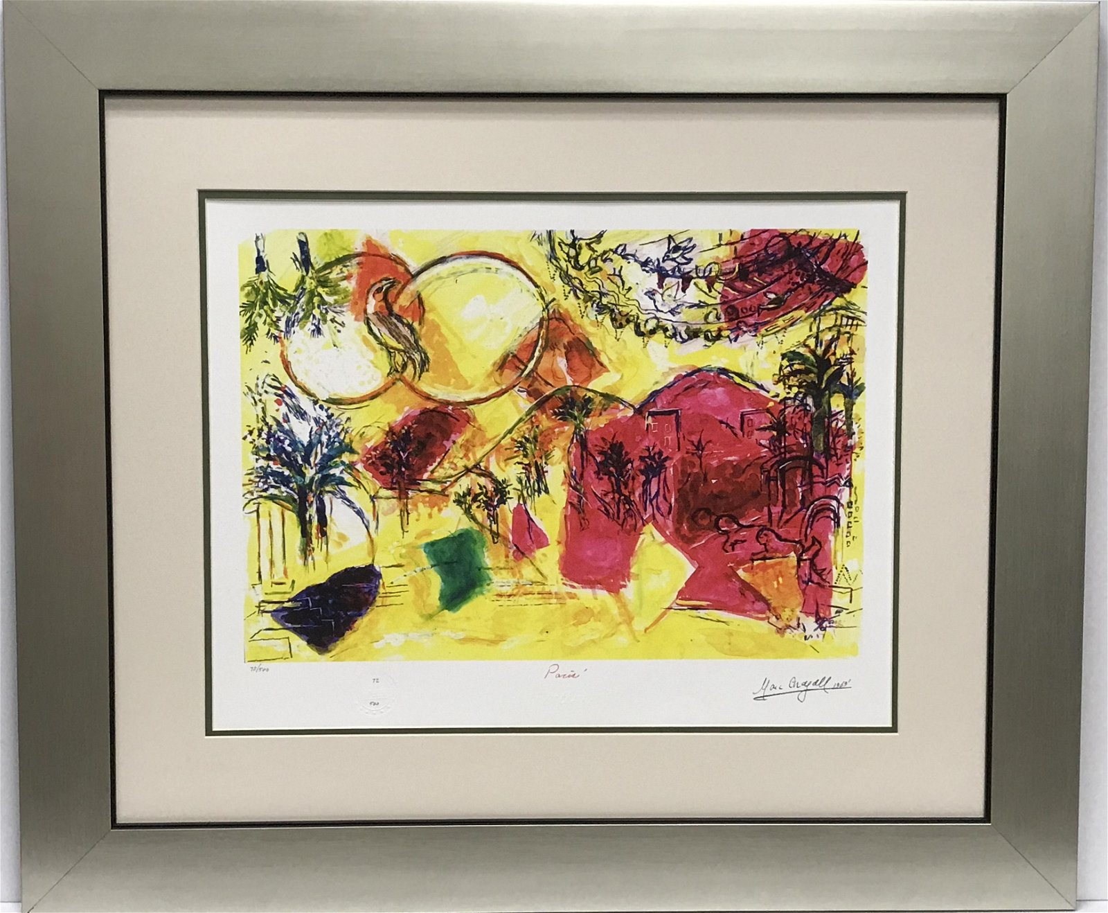 After Marc Chagall Love and Peace Lithograph