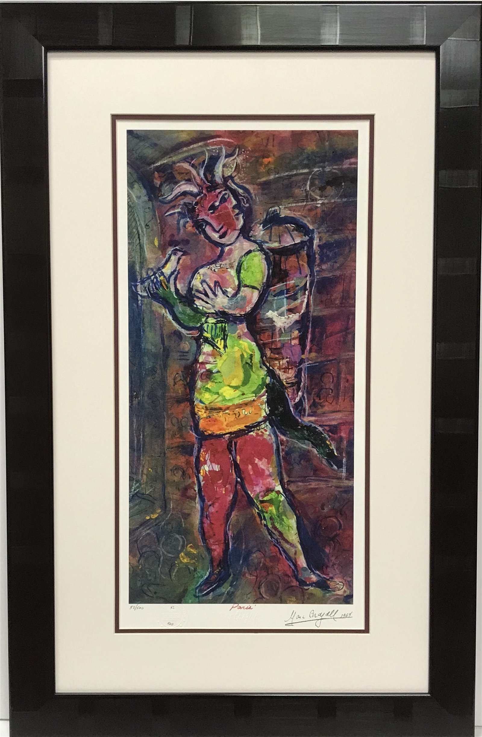 After Marc Chagall The Magic Flute Papageno Lithograph