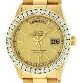 Rolex Mens 18038 DayDate 18K Yellow Gold Champagne