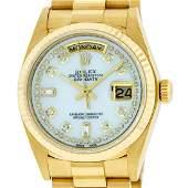 Rolex Mens DayDate President Watch 18K Yellow Gold MOP