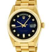 Rolex Mens DayDate President Watch 18K Yellow Gold