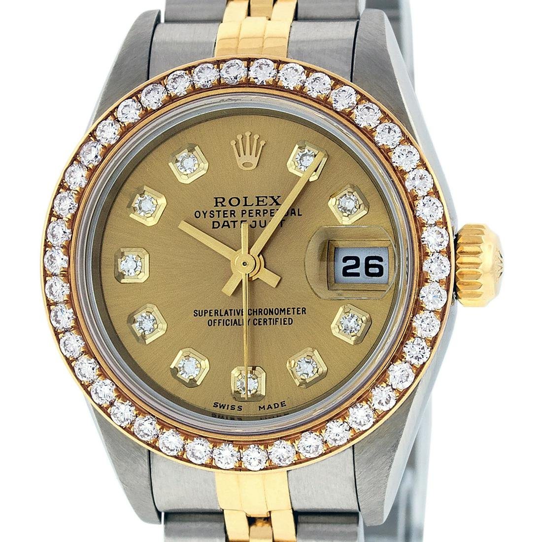Rolex Ladies Datejust Watch SS & 18K Yellow Gold