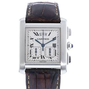 CARTIER TANK FRANCAISE YEARLING CHRONOGRAPH W5101455