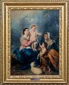 18t Century Spanish Old Master Holy Family Madonna
