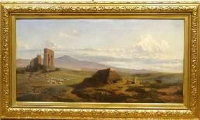 19th Century Italian Appian Way Rome Landscape Ruins