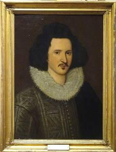 Large 16th Century English Portrait Edward Talbot The