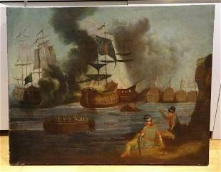 Large 17th Century Ottoman Venetian Wars Ship Navy