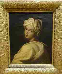 Large 18th Century Italian Old Master Sybil Lady