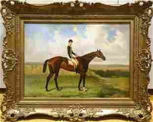 Large 19th Century Portrait Of Cloister Grand National
