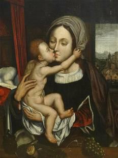 Fine 16th Century Flemish Antwerp School Madonna &