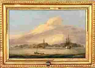 18th Century British Royal Navy Frigate Jamestown Sy