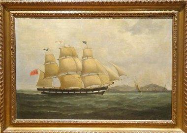 Large 18th Century British Royal Navy Marine Oil Ship