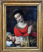 17th Century Dutch Old Master Madonna & Baby Peter Paul