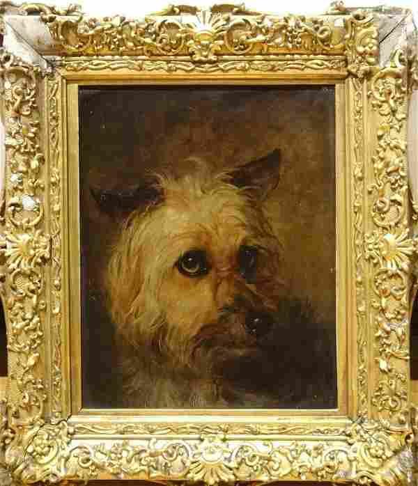 19th Century English School Yorkshire Terrier Dog