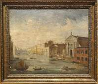 Fine Large 19th Century Italian Venice Canal View