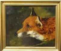 Fine 19th Century English School Portrait Of A Fox