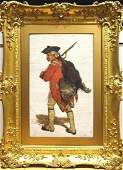 Large 19th Century British Military Redcoat Soldier