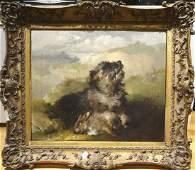 Terrier Dog Portrait & Dead Rabbit
