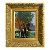 Ornate Framed Oil Canvas Painting