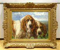 Portrait Of Two Bloodhound Dogs