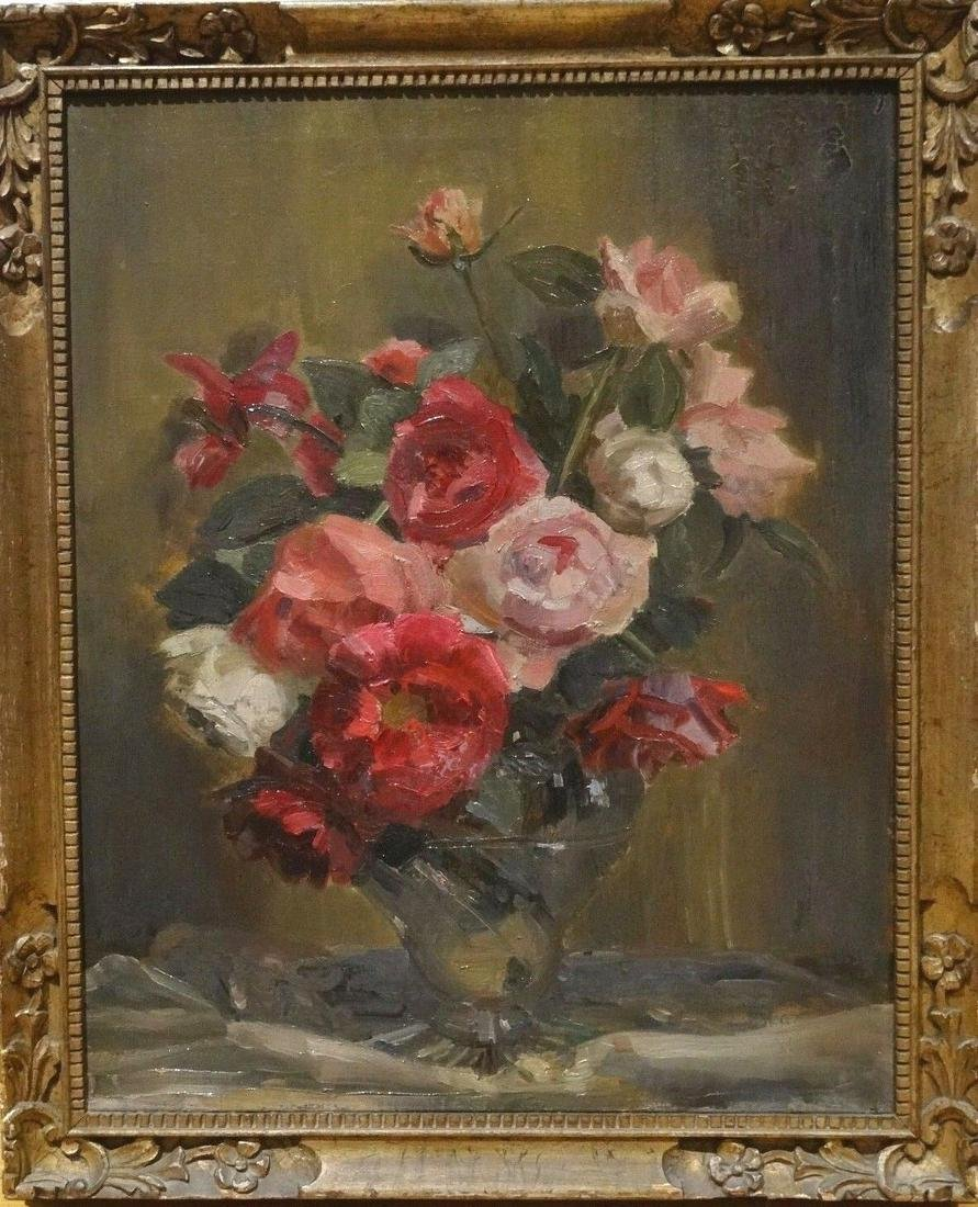 Still Life Red Pink White Roses Flowers