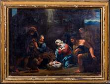 Holy Family Shepherds Nativity Scene