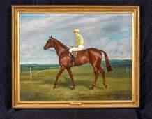 "Large 1929 Century English Race Horse ""Cyclonic"" Jockey"