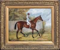 "Large 19th Century Horse ""Melton"" & Jockey Fred by"