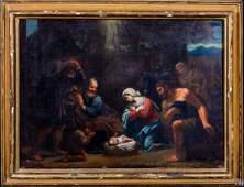 Large 17th Century Italian Old Master Holy Family