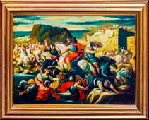 Battle Scene Siege Of City