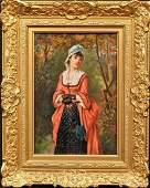 Portrait Elegant Lady In A Woodland