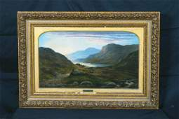 Loch Landscape & Sheep Oil Painting